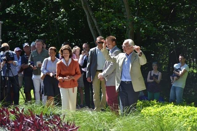 Kungaparet invigde idéträdgårdar på Sollidens slottspark