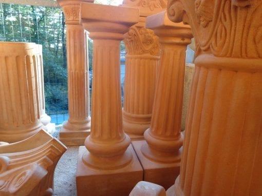 Kolonn Colonna Capitello kolonn i frosttålig terrakotta