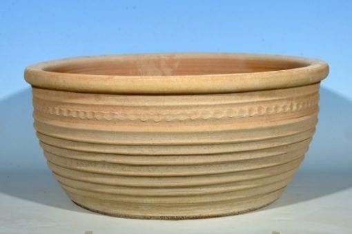 stor skål Aristea i handdrejad frosttålig terrakotta från Kreta
