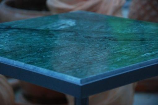 Cadabra RenässansTM loungebord i smide med grön marmorskiva verde guatemala