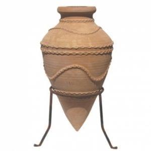 Amfora Dedalus i handdrejad terrakotta från Kreta