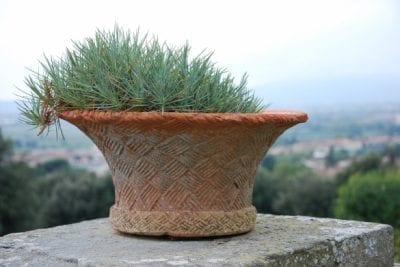 Terracottakruka Italien Paniera Vimini Impruneta cadabra