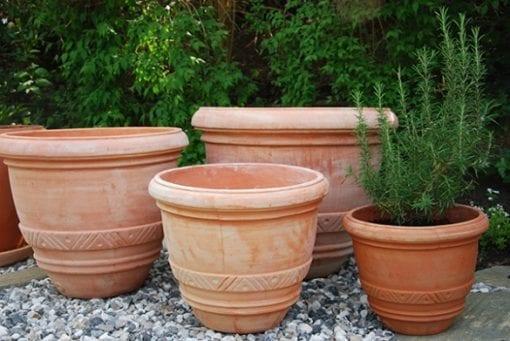VasoConca stora terrakottakrukor för trädgården och orangeriet