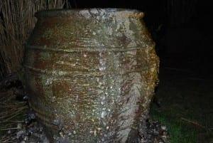 Ispansar på Vaso Knossos frosttåliga urnor och krukor