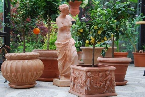 Venus di Milo staty i terrakotta