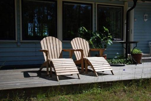 Adirondackstol natur utemöbel för uteplatsen