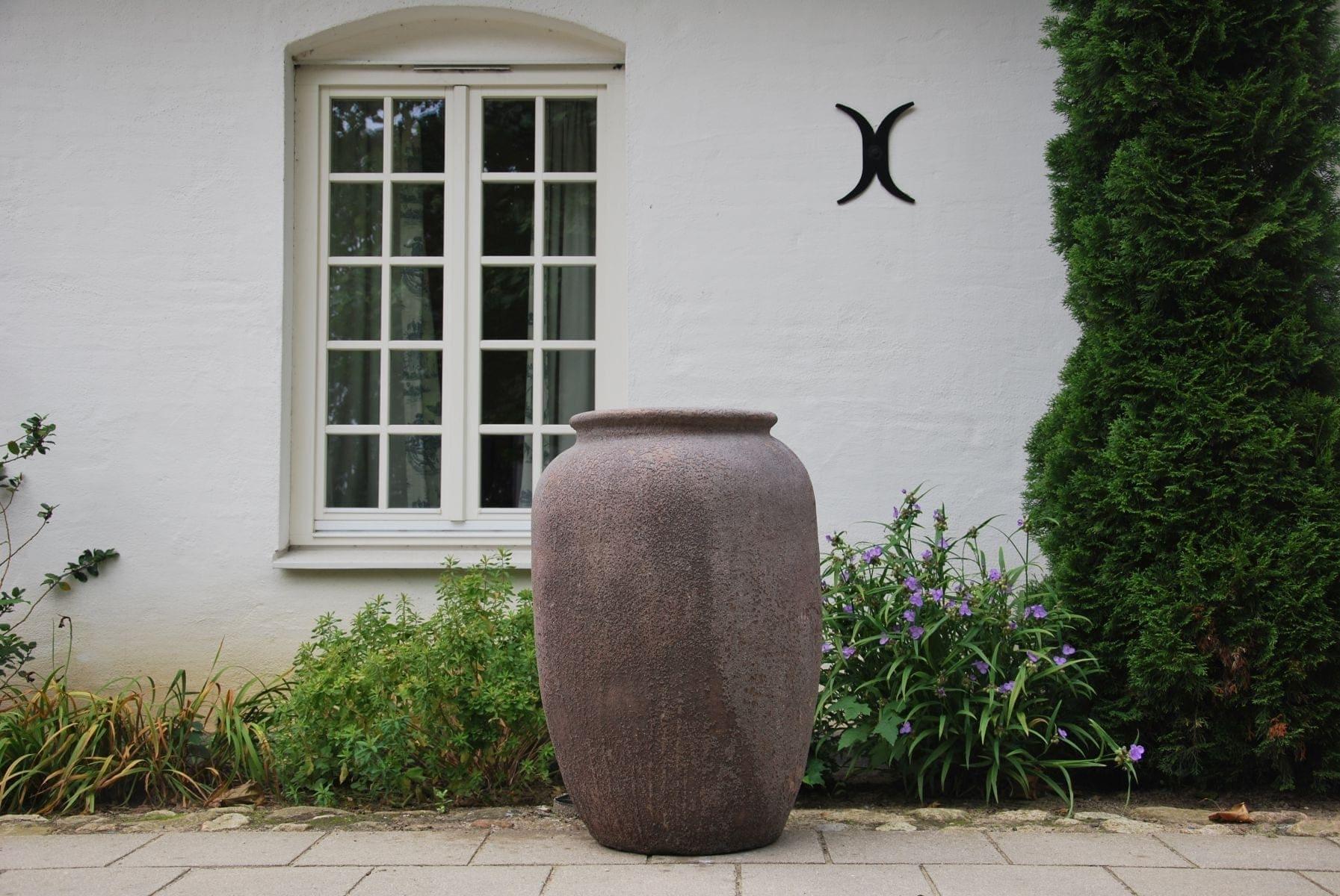 Vaso Barile stor urna och frosttålig utekruka från Cadabra