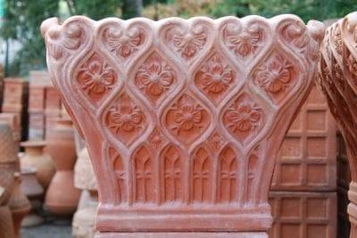 Orientalisk kruka cesta venezia handgjord i frosttålig terracotta från Toscana