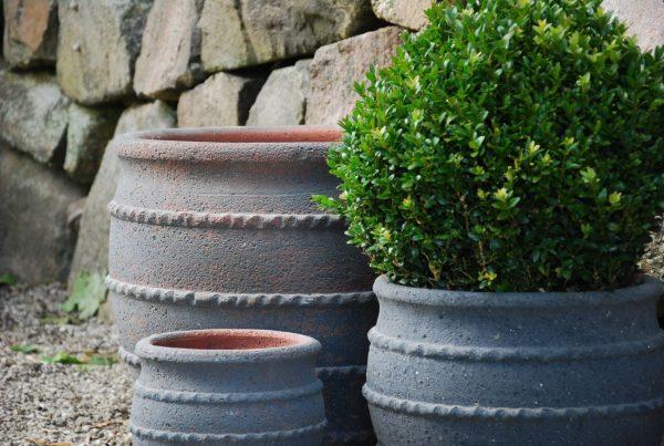Colosseo Fired Earth köldtåliga krukor för trädgården utekrukor kärl utomhuskrukor