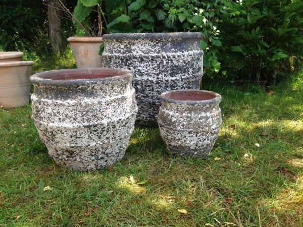Colosseo Nano stora frosttåliga krukor och planteringskärl för trädgården