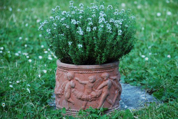 Cylindro con Putti handgjorda terrakottakrukor ifrån Impruneta Italien
