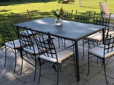 Smidesstol Piazza utemöbler dining smidesbord Cadabra