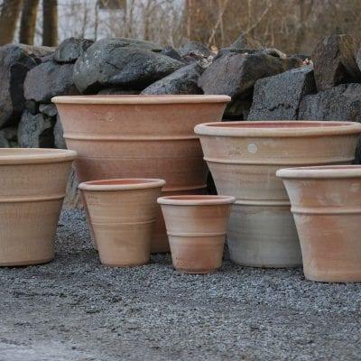 terrakottakrukor orangeri frosttåliga utekrukor för trädgård och parkmiljö