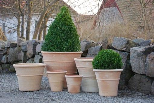 terrakottakrukor orangeri frosttåliga krukor för trädgård utekrukor kreta cadabra design