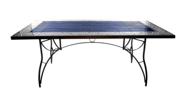 Matbord smidesbord kakelbord utemöbler för medelhavsmiljö