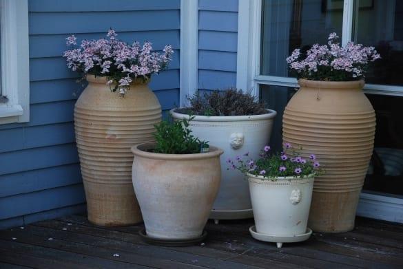 labyrinth medelhavsurnor och krukor för trädgården utomhuskrukor frostsäkert
