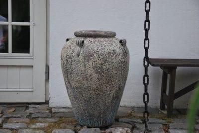 Stor urna Maniglia och kruka i frosttåligt stengods