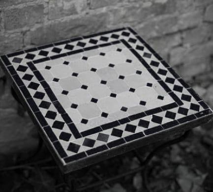 handgjorda mosaikbord runda och fyrkantiga från Marrakesh