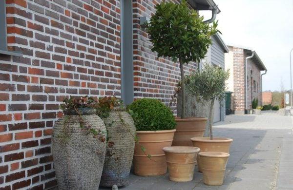 Cadabra Orangeri handdrejade utekrukor i terrakotta för uteplatsen