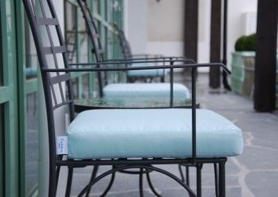 Piazza karmstol italienska smidesmöbler