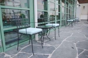 Piazza karmstol italienska smidesmöbler utemöbler mosaikbord marrakech