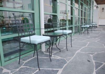 Piazza karmstol italienska smidesmöbler utemöbler