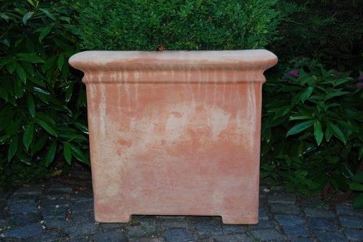 Pilone Liscio Toscana stora fyrkantiga krukor i terrakotta från Cadabra