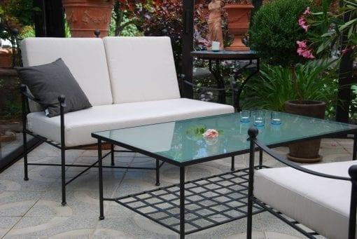 smidesmobler divano soffa i svart smide utemobler