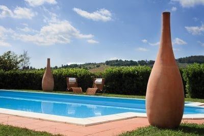 Stor Vas Silhouette terracotta från Impruneta cadabra