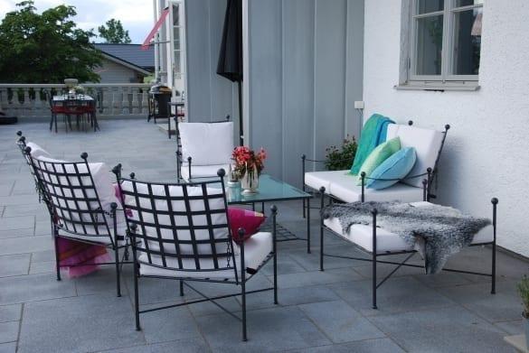 Privatkund skapar exklusiv utemiljö med smidesmöbler ifrån Cadabra.