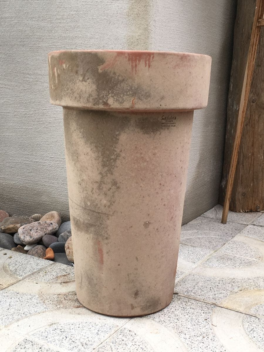 patinerade krukor liscio bordo vinificato terrakottakrukor utekrukor höga