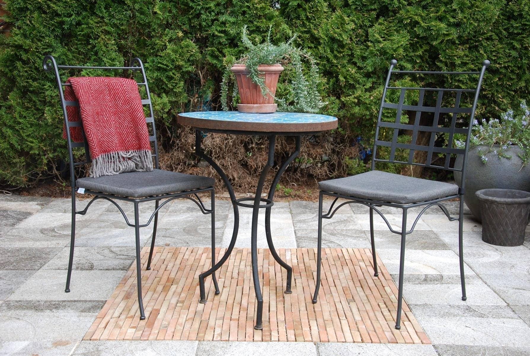 utemöbler piazza smidesstol för uteplats och trädgård
