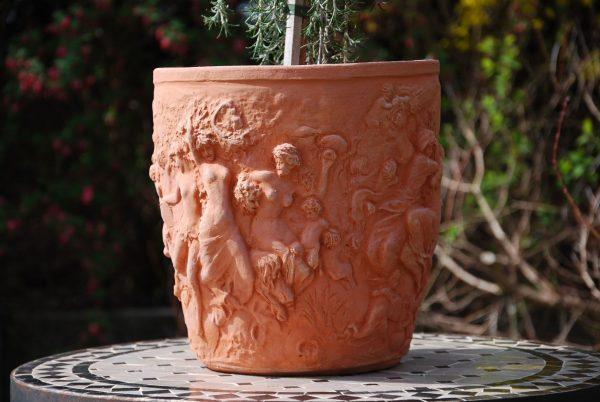 Vaso 4 stagioni snygga frosttåliga krukor i terrakotta