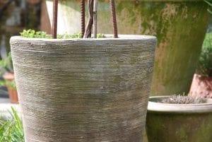 Vaso Cono Chocolate Scratch terrakottakrukor för trädgården
