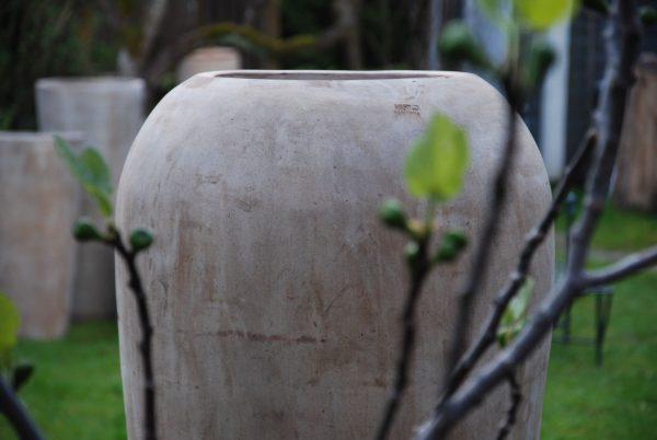 Vaso Goccia stor urna i chokladbrun terrakotta för entre och uteplats