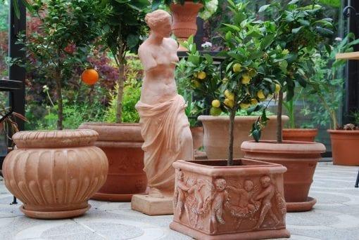 Venere di Milo handgjord staty i terrakotta från Toscana, Italien och Cadabra
