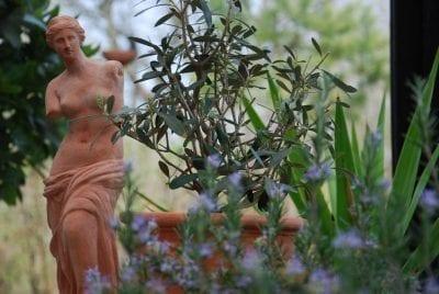 staty Venus Italiensk statyett i handgjord terrakotta från Impruneta