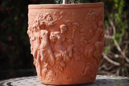 Stagioni handgjorda Toscanska terrakottakrukor för trädgården