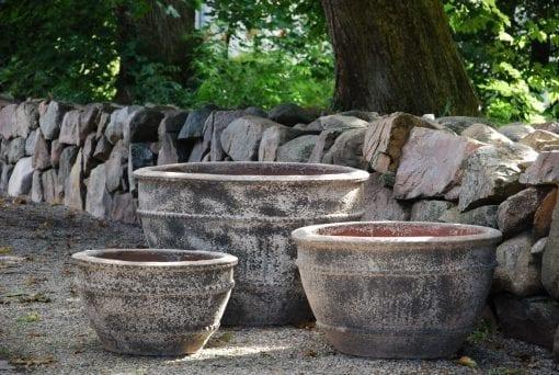 Planteringskärl Colosseo wide Dolomite stora krukor utekrukor medelhavskrukor