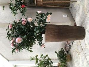 höga terrakottakrukor cono lungo utekrukor för trädgården interior design