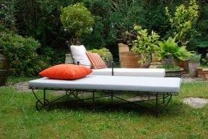 Rilasso dagbädd Italienska smidesmöbler ute och inne