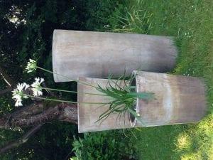 Vaso Cono Lungo Plain höga stora krukor i terrakotta gardendesign hotelldesign interiordesign