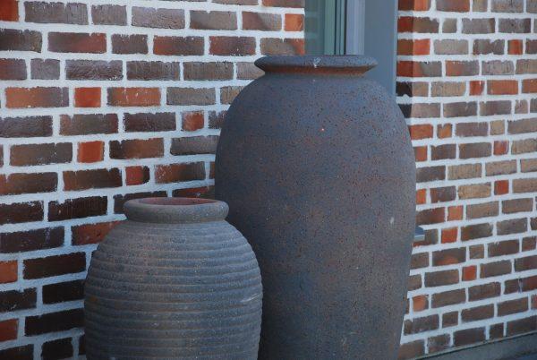Vaso Olivo Fired Earth stora höga frosttåliga urnor interior design trädgård