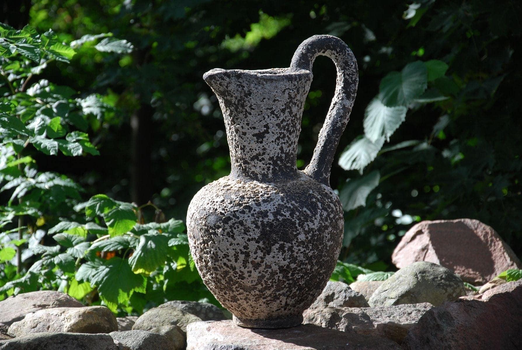 Caraffo stor vas i frosttåligt stengods interiordesign utekrukor