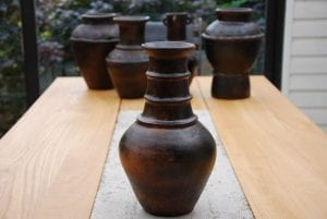 Bau Truc E inredning lerkrus lerkärl interior design vas krukor urnor
