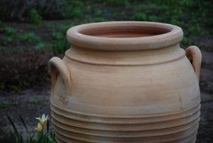 Michalis stora utekrukor och frosttåliga urnor och kärl trädgårdsdesign
