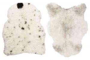 Spotted Isländsk Lammfäll för smidesstolar