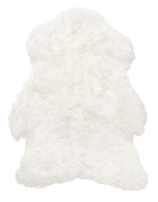 Vit Isländsk Lammfäll för smidesmöbler