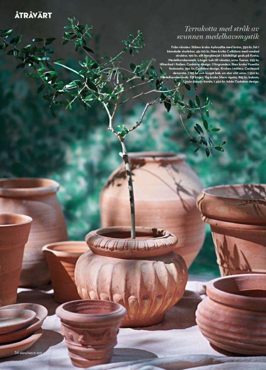 Cadabra terrakottakrukor från Kreta och Italien