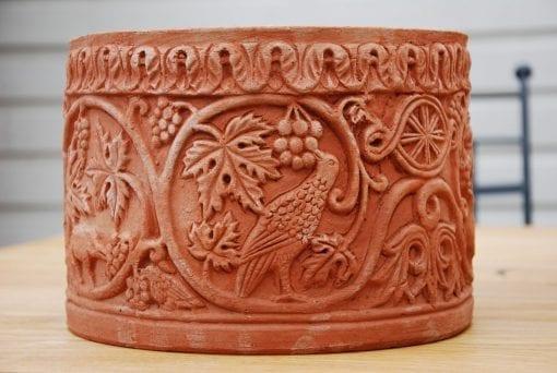 italiensk terracottakruka cachepot bizantino handgjord terracottakrukor fran impruneta utekrukor